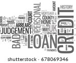 what is a bad credit personal... | Shutterstock .eps vector #678069346
