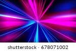 speed motion on the neon... | Shutterstock . vector #678071002