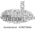 what does financial freedom... | Shutterstock .eps vector #678073846