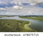 aerial view of green islands... | Shutterstock . vector #678075715