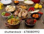 ketupat hai raya  indonesian... | Shutterstock . vector #678080992