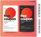 free coupon with number and... | Shutterstock .eps vector #678083638