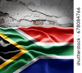 south africa flag of silk with... | Shutterstock . vector #678084766