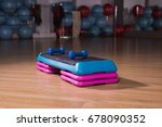 fitness aerobic stepper in the... | Shutterstock . vector #678090352