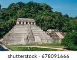 palenque maya ruins in mexico | Shutterstock . vector #678091666
