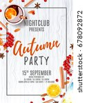beautiful poster for autumn... | Shutterstock .eps vector #678092872