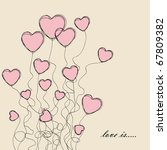 valentines greeting card | Shutterstock . vector #67809382