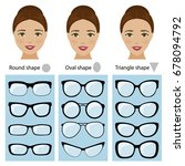 spectacle frames shapes for...   Shutterstock . vector #678094792