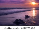 nature in twilight period ... | Shutterstock . vector #678096586