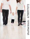 happy family of three enjoying... | Shutterstock . vector #678097072