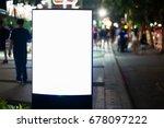 blank advertising panel on a... | Shutterstock . vector #678097222