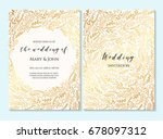 wedding invitation  thank you... | Shutterstock .eps vector #678097312