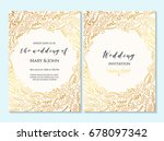 wedding invitation  thank you... | Shutterstock .eps vector #678097342