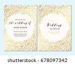 wedding invitation  thank you... | Shutterstock .eps vector #678097342