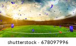 evening stadium arena soccer... | Shutterstock . vector #678097996