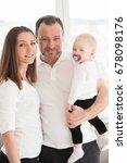 portrait of happy family of... | Shutterstock . vector #678098176