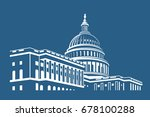 Stock vector united states capitol building icon in washington dc 678100288