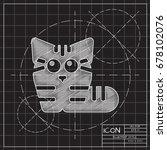 vector blueprint cat icon on...   Shutterstock .eps vector #678102076
