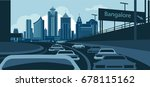bangalore skyline | Shutterstock .eps vector #678115162