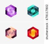 modern abstract design vector... | Shutterstock .eps vector #678117802