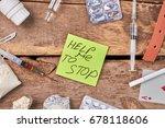 ways of help for drug addicted. ... | Shutterstock . vector #678118606