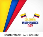 independence day colombia.... | Shutterstock .eps vector #678121882
