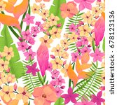 floral seamless pattern of... | Shutterstock .eps vector #678123136