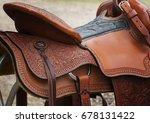 Western Saddle Close Up