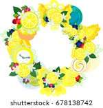 the frame that is made with... | Shutterstock .eps vector #678138742