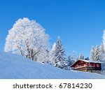 Winter Holiday House In Swiss...