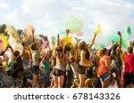 teenagers celebrate holi.