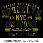 new york city camouflage... | Shutterstock .eps vector #678147856
