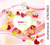 decoration pink floral heart.... | Shutterstock .eps vector #67814863