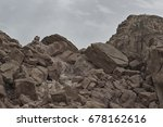 a piece of mountain in the... | Shutterstock . vector #678162616