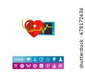 human heart as cardiology... | Shutterstock .eps vector #678172636
