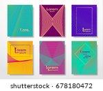 halftone minimal covers design... | Shutterstock .eps vector #678180472