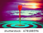 target hit in the center by... | Shutterstock . vector #678188596