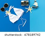 summer fashion woman swimsuit... | Shutterstock . vector #678189742