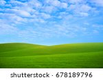 white fluffy clouds in the blue ... | Shutterstock . vector #678189796