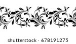 floral seamless pattern.... | Shutterstock .eps vector #678191275