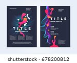 template for a magazine about... | Shutterstock .eps vector #678200812