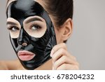 woman face mask. portrait of... | Shutterstock . vector #678204232
