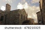 Stock photo kilmainham gaol courtyard dublin ireland 678210325