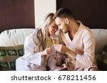 beautiful couple relaxing in...   Shutterstock . vector #678211456