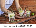 a female bartender offers a... | Shutterstock . vector #678216355