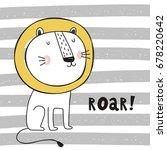 cute lion print | Shutterstock .eps vector #678220642