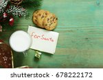 Cookies And A Glass Of Milk Fo...