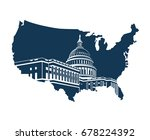 united states capitol building... | Shutterstock .eps vector #678224392