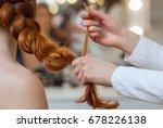 beautiful   red hairy girl ... | Shutterstock . vector #678226138