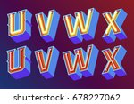 3d vintage letters with... | Shutterstock .eps vector #678227062